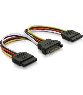 Deltaco SATA-15 Power Cable Y-Split SATA til 2x SATA