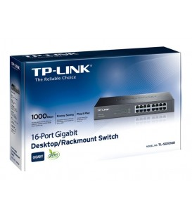 TP-Link TL-SG1016D 16-port Gigabit switch, Desktop/Rackmount