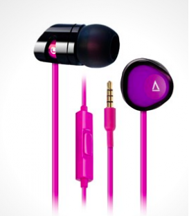 Creative MA200 In-Ear headphones, Black/Purple