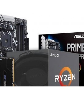 BUNDLE * AMD Ryzen 2200G, Hovedkort, 8 GB minne