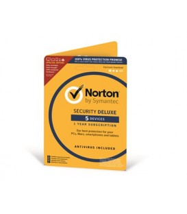 Norton Security DeLuxe 3.0, 1 år, 5 enheter - ATTACH