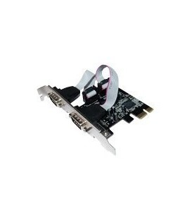 ST LAbs PCI-e Seriell RS232 PCI-express x1, kort, 2-port, (I-360)